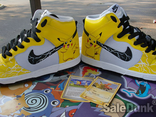 new arrival ec6c8 3da35 Cute Pokemon Pikachu High Custom Dunk Sneakers For Sale - Cx201306 s blog