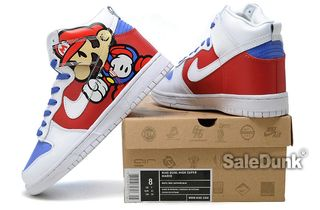 watch 610bb 91c42 Nike-Super-Mario-Bros-Dunks-High-Tops-Sneakers2