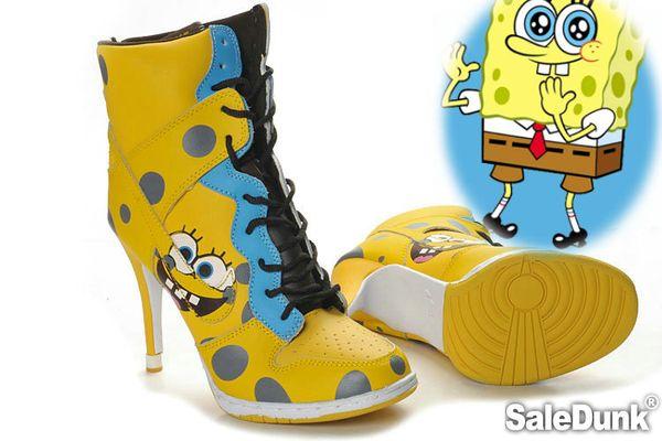 My Favorite Lovely Spongebob Dunk High Heels Yellow