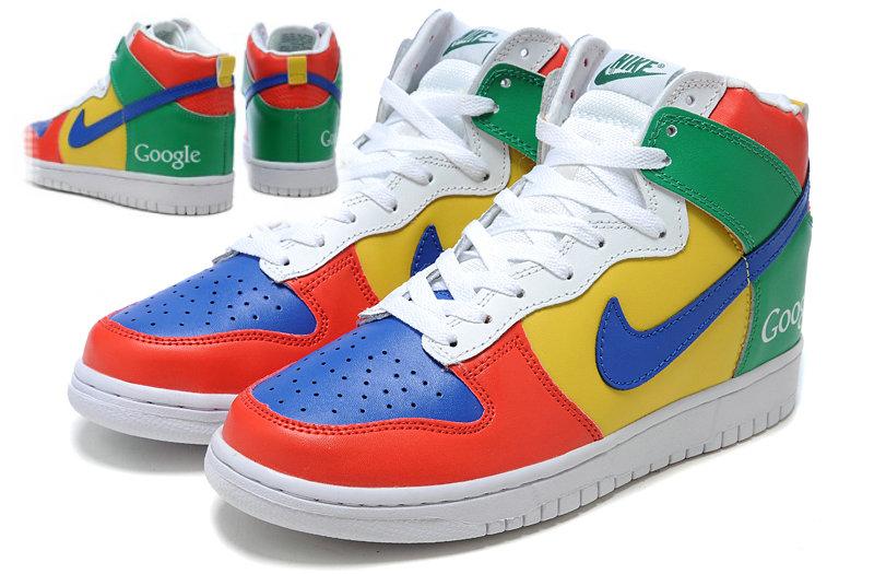 san francisco 1fba2 d98a8 Nike-Google-Dunk-High-Custom-Sneakers 4
