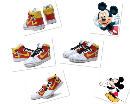 Disney nike dunk Mickey Mouse Shoes Cartoon Character