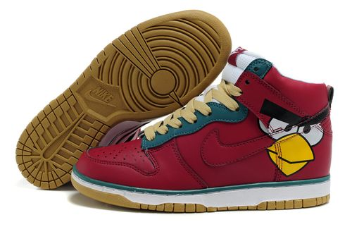the latest dd172 015f9 Red-Face-Nike-Dunk-Custom-Angry-Bird-Shoes